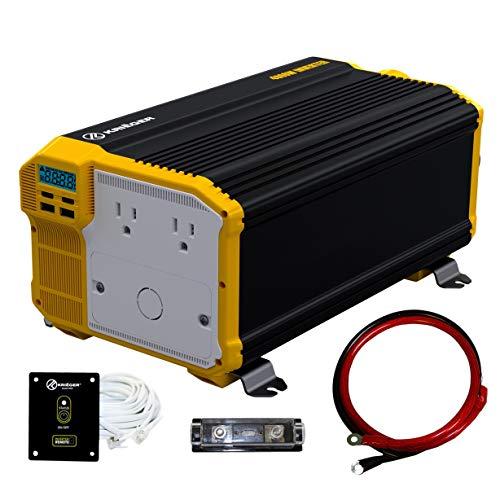 Krieger 4000 Watts Power Inverter 12V to 110V, Modified Sine Wave...