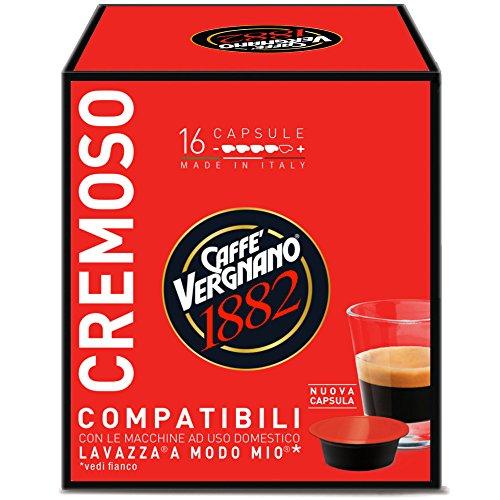 Caffè Vergnano 1882 Capsule Caffè Compatibili Lavazza A Modo Mio, Cremoso - 8 confezioni da 16...