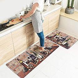 Kitchen Rug Set, LEEVAN Kitchen Floor Mats