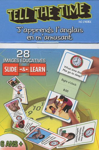 Tell the Time (dis l'heure) : 28 images ducatives Slide & Learn 3-6 ans