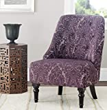 Safavieh Mercer Collection Stacy Armless Club Chair, Indigo/Purple