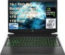 "2021 HP Pavilion 16.1"" FHD Gaming Laptop, Intel 6-Core i7-10750H, 32GB DDR4, 1TB SSD +1TB HDD, NVIDIA GTX 1660Ti Max-Q, Webcam, Bluetooth, Backlit Keyboard, Windows 10 with ES USB Card"