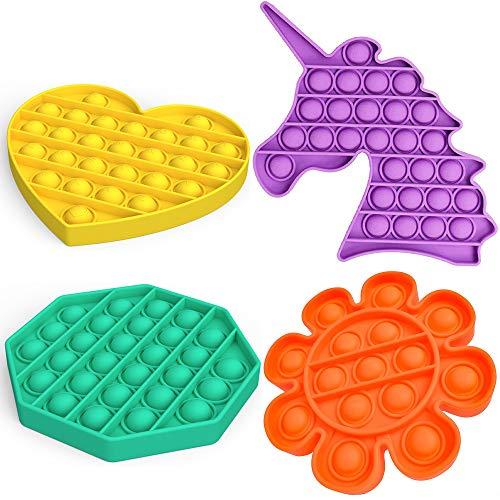 4 Pack Push pop pop Bubble Sensory Fidget Toy, Autism...