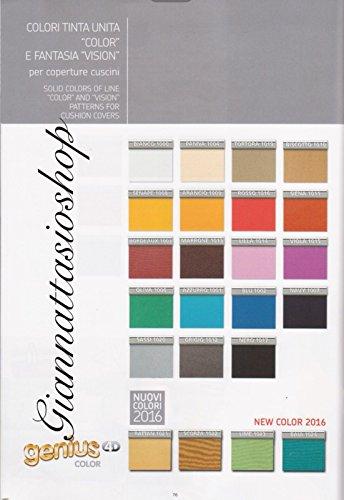 Genius 4D - Biancaluna - Coppia Cuscini Singoli Maxi per Cuscini da 70 a 95cm - Colori Tinta Unita...