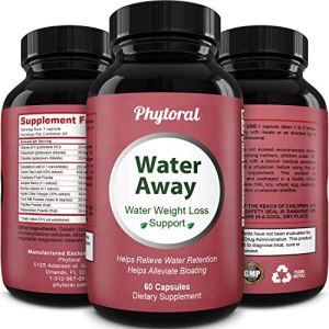 Premium Water Pills Diuretic Natural & Pure Dietary Supplement for Water Retention Relief Weight loss Detox Cleanse for Men & Women with Vitamin B-6 Potassium Chloride Dandelion Root by Phytoral 8 - My Weight Loss Today