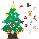 Felt Christmas Tree - 3.6 FT 3D DIY Set for Kids with 36 Pieces of Ornament Decor, Wall Hanging Christmas Tree Decorations