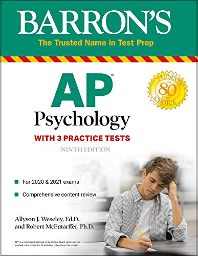 AP Psychology: With 3 Practice Tests (Barron's Test Prep)