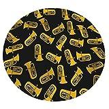 Xuanlin Manta cómoda, Manta Suave Redonda para Instrumentos Musicales de Tuba aislada para Adultos y niños