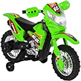 Best Choice Products Kids 6V Ride On Motorcycle w/ Training Wheels, Lights/Sounds, Charger, Green