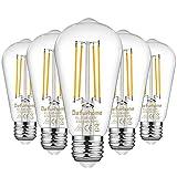 Defurhome ST58 E27 6W LED Edison ampoules équivalent 60W, lumière du jour...