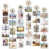 Uping Cadre Photo Pêle Mêle Cadre Photo Mural Porte Photos Pinces Tranches de...