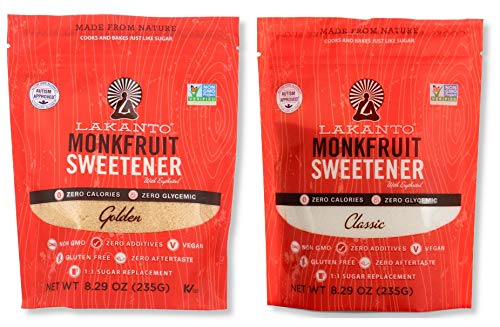 Lakanto Monkfruit Natural Sweetener Variety Pack, Classic & Golden Sweetener, 8.29 Oz