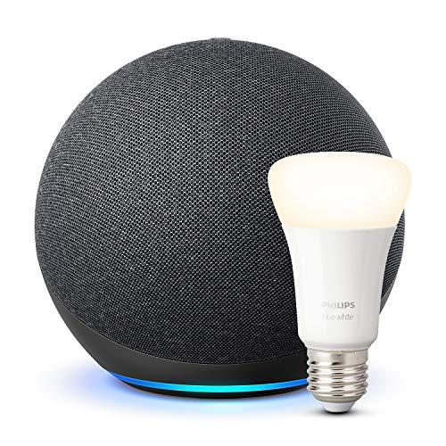 Nouvel Echo (4e génération), Anthracite + Ampoule connectée Philips Hue