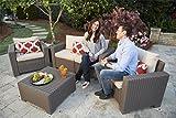 Gartenlounge Sofa California 2-Sitzer cappuccino/panama sand inkl Sitz- und Rückenkissen - 2