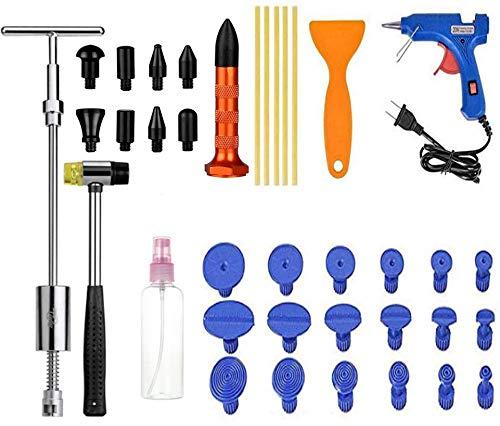 Kit Débosselage sans Peinture,Outils Paintless de Réparation Carrosserie,Réparation de Dent pour Voiture,Réfrigérateur,Moto Corps (B)