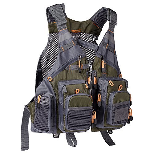Bassdash Strap Fishing Vest Adjustable for Men and Women, for Fly Bass Fishing and Outdoor...