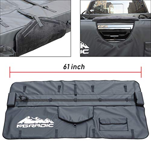 BreaAP 61' Truck Tailgate Pad Shuttle Pad 5 Bikes Compatible with Middle&Large Pickup Truck w/Bag