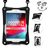 Cooper Trooper 2K Rugged Case for 10-10.4'' Tablet | Tough Bumper Protective Drop Shock Proof Kids Holder Carrying Cover Bag, Stand, Hand Strap (Black)