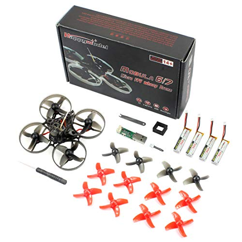 GEHOO GH Happymodel Mobula7 75mm Crazybee F3 PRO OSD 2S Whoop FPV Racing Drone con Upgrade BB2 ESC 700TVL BNF (Frsky Non-EU, Basic Version)