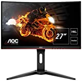 "AOC Monitor Gaming C27G1 - 32"" Curved 1800R, QHD, 144Hz, VA, 1ms, FreeSync Premium, 2560x1440, 300 cd/m, HDMI 1x1.4 / 1x2.0, Displayport 1x1.2"