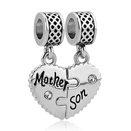 CharmSStory Mother Daughter Son Dangle Beads Charms for Bracelets (Mother Son)