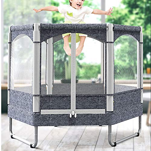 Fitness Trampoline Kids Baby Mini Rebounder Trampoline with Fence for Indoor Outdoor Exercise Jumper Max Load 150kg 6