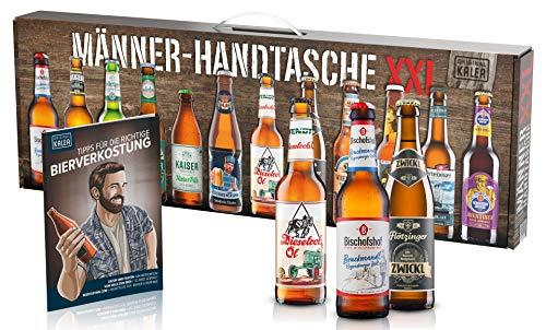KALEA Männerhandtasche XXL, 12 Biere von Privatbrauereien aus Deutschland, Geburtstagsgeschenk für...