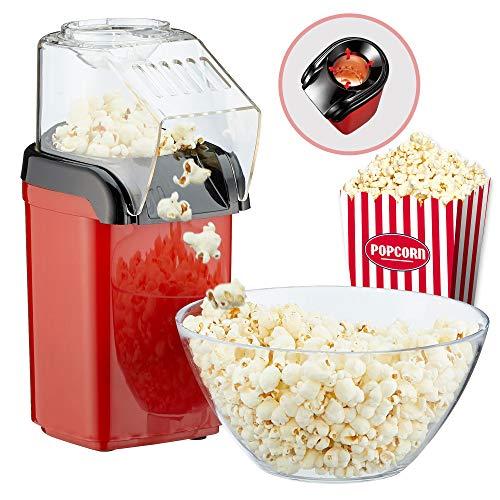 """Popcornmaschine\""""Poppy\"""" Popcorn Maker für Zuhause   leistungsstarke fettfreie schnelle Zubereitung mit Heißluft   1200W   inkl Messbecher"""