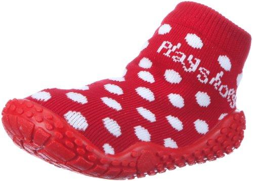 Playshoes Calzini da Mare con Protezione UV-Pois, Scarpe da Acqua Bambina, Rosso Rot 8, 30/31 EU