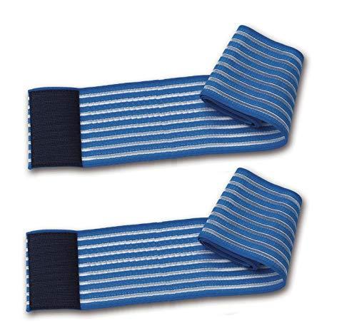 2 fasce elastiche blu regolazione a strappo 100Cm per trattamenti estetici e terapeutici elettrodi ionoforesi tens