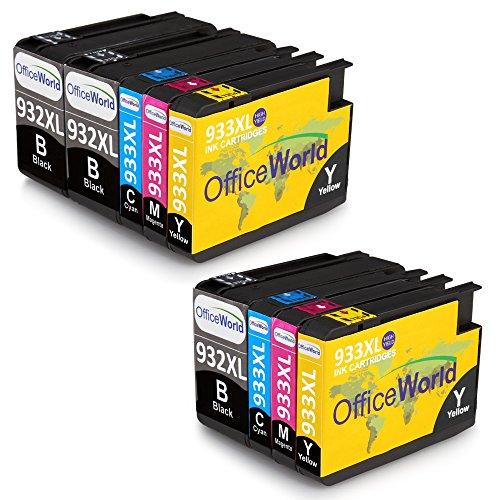 OfficeWorld 932 933 Compatibile Sostituzione per HP 932XL 933XL Cartucce d'inchiostro Alta capacit...