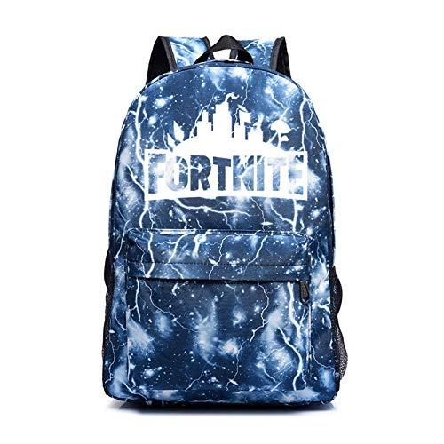 Mochila luminosa de viaje escolar para hombres y mujeres mochila de hombro multifunción ideal con muchas bolsas de almacenamiento