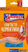 Spontex Food Contact Gr.M –Guanti monouso per la sicura preparazione di tutti gli alimenti, confezione da 3(3x 20pezzi)