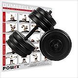 POWRX Kurzhantel Set | 2er Pack 20kg 30kg 40kg