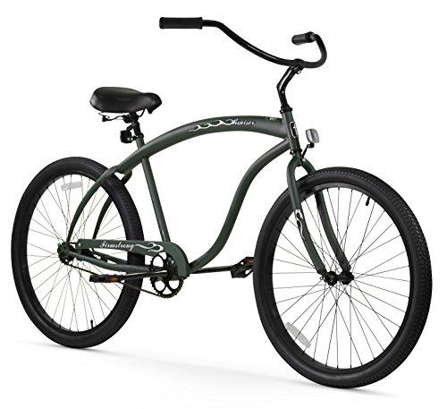 Firmstrong Bruiser Man Single Speed Beach Cruiser Bicycle, 26-Inch, Matte Army Green