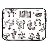 Bolsas para portátil Wild West compatibles con Tableta Netbook de 15 ″, maletín con Funda de Pringting, Funda para Bolso de Transporte