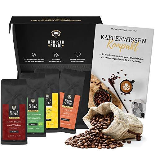 Premium Kaffeebohnen Probierset mit Guide | Kaffee Geschenk für Männer und Frauen | Mit Liebe...