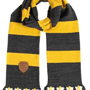 Harry Potter Hufflepuff Premium Knit Scarf with Patch Emblem