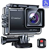 【3-6 Days Delivery】 Crosstour CT9700 Native 4K50fps Touch Screen Action Camera 20MP Underwater Camcorder (LDC, EIS, 40M Waterproof, WiFi, Remote Control, Mounting Accessories Kit)