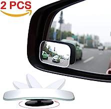 AmFor Blind Spot Mirror, HD Glass Convex Lens Frameless Adjustable Blind Spot Mirror for..