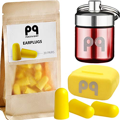 PQ Earplugs for Sleep - Comfortable & Reusable Ear Plugs for Side Sleepers - Sound Blocking Level 32 dB - Noise Cancelling for Snoring & Reusable Ear Plugs for Swimming & Traveling