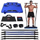 FITINDEX Portable Home Gym - Exercise Equipment with Resistance Bands Bar, Muscle Build Workout Equipment for Men/Women, Full-Body Fitness Equipment for Indoor/Outdoor/Travel