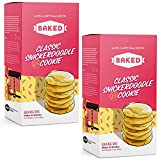 BAKED Classic Snickerdoodle Cookie Baking Mix. Makes 24 cookies, just add Butter, Egg, & Milk. Fun from start to finish. (Pack of 2)