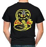 Cobra Kai – Camiseta para hombre y hombre | frase en alemán Dojo Karate Kid MMA Regalo | M3 Negro S