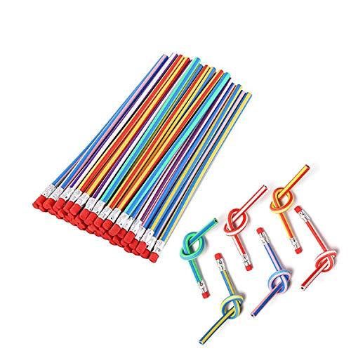 Flexible Bendy Pencil, 35 PCS Flexible Soft Pencil Colorful...