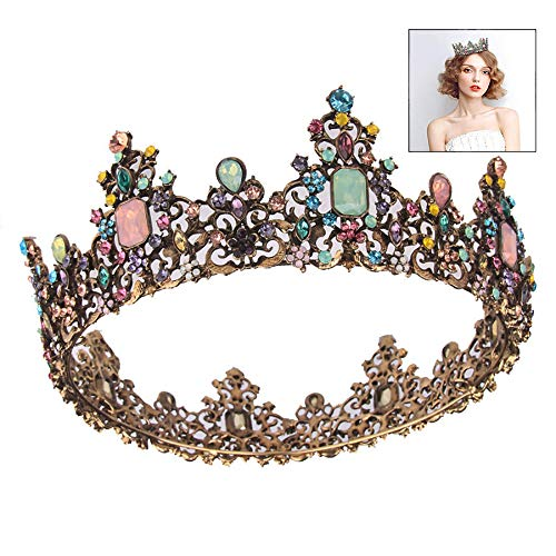 XLKJ Tiara di Sposa Principessa,Corona Nuziale Tiara Corona di Cristallo Corona Strass Accessori per...