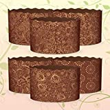 6 x 1 lb Easter Bread parchment baking paper Molds 'Italy'