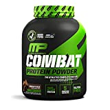MusclePharm Combat Protein Powder, Essential Whey Protein Powder, Isolate Whey Protein, Casein and Egg Protein with BCAAs and Glutamine for Recovery, Chocolate Milk, 4-Pound, 52 Servings