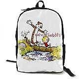 Mochila De Viaje Mochila Mochila Calvin and Hobbes Unisex Backpack Laptop for Travel School Outdoor Hiking Bag