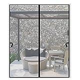 Magnetic Screen Door 72 x 96inch Snap on Screen Door Magnets Mesh Curtain Sliding Door Mosquito Door Net with Heavy Duty Fits Door Size 70'x94' for Frech Door/Entry Door/Interior Door/Patio Door